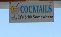 Conch Key Cocktail sign
